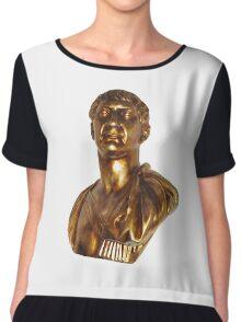 Golden Rome Chiffon Top