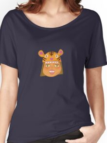 Kids With Animal Beanie - Tiger Women's Relaxed Fit T-Shirt