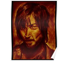 The Walking Dead - Daryl Dixon Portrait(Crimson version) Poster