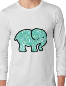 turquoise elephant  Long Sleeve T-Shirt