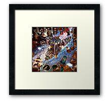 Tardis Battle Framed Print