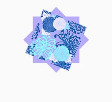 Flower Pattern, flowers in aqua, blue, violet, white Unisex T-Shirt