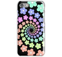Groovy Flower Spiral - Retro 60s - Vintage 1960s - Rainbow iPhone Case/Skin