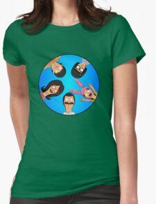 Bob's Burgers Circle Blue Womens Fitted T-Shirt