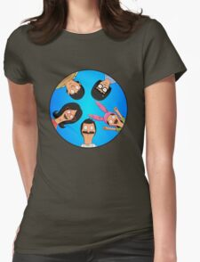 Bob's Burgers Circle Blue Womens Fitted T-Shirt