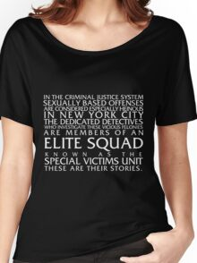 Law and Order:SVU Special Victims Unit Introduction Dick Wolf Classic Women's Relaxed Fit T-Shirt