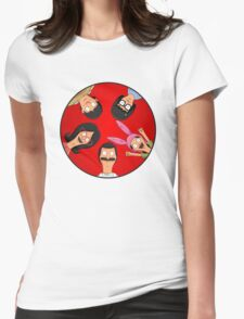 Bob's Burgers Circle Red Womens Fitted T-Shirt