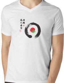 巻き寿司 円相 Mens V-Neck T-Shirt
