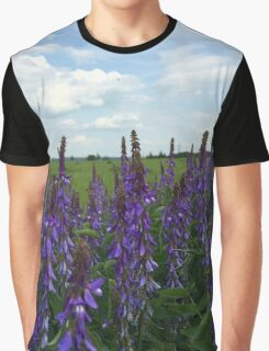 Pink flower field Graphic T-Shirt