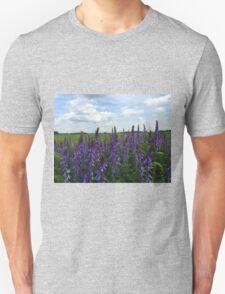 Pink flower field Unisex T-Shirt
