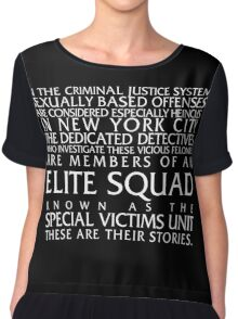 Law and Order:SVU Special Victims Unit Introduction Dick Wolf Classic Chiffon Top