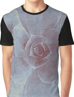 Watercolor Succulent Graphic T-Shirt