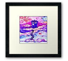 TARDIS COLOUR Framed Print