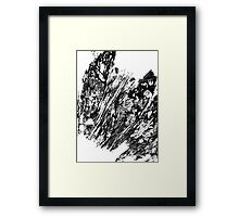 wiled texture  Framed Print
