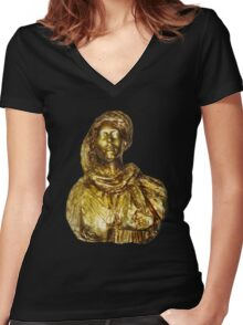 Damsel in Gold Women's Fitted V-Neck T-Shirt