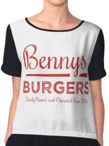 Benny's Burgers Women's Chiffon Top