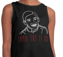 Imma Try it Out Contrast Tank