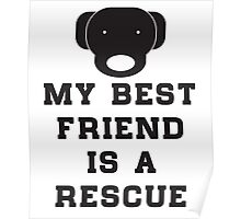 My best friend is a rescue (dog) Poster