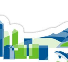 Seattle Skyline | Poly Sticker