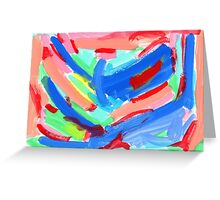 WHAT COLOR OF SKY DID YOU LIKE WHEN YOU WERE KIDS? by Lenna Greeting Card