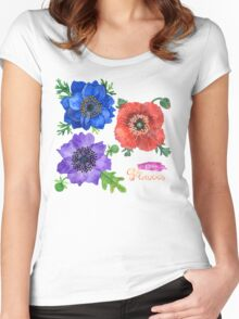 I Love Flowers Women's Fitted Scoop T-Shirt