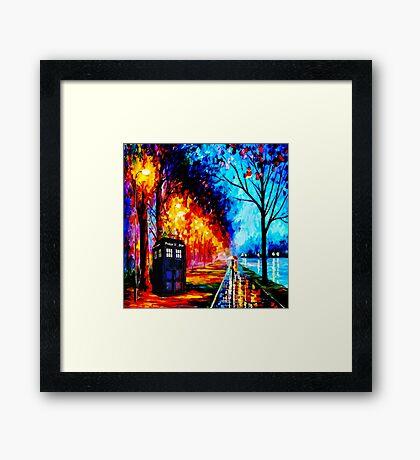 Tardis Style Framed Print