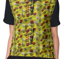 Poppies and Poses Chiffon Top