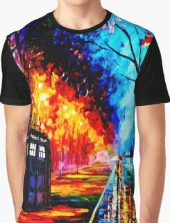 Tardis Style Graphic T-Shirt