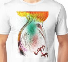 Yellow Flame Crested Bird Unisex T-Shirt