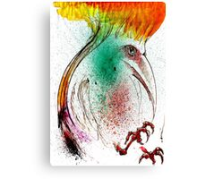 Yellow Flame Crested Bird Canvas Print