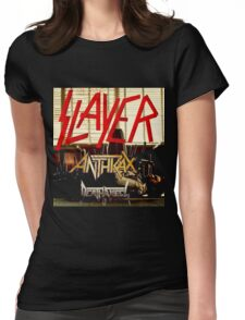 Kar04 SLAYER With ANTHRAX & Death Angel Tour 2016 Womens Fitted T-Shirt
