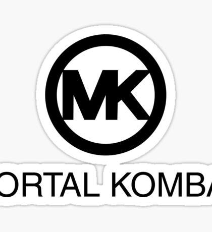 MK Mortal Kombat Logo Fanart Sticker