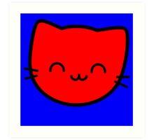 Kawaii Kitty Cats 2048 - tile 8 Art Print