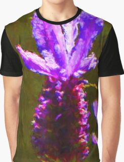 One Lavender Flower Graphic T-Shirt