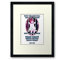 Why did Sue fall off the Swing? Framed Print