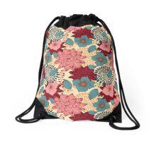 Vintage Floral - Pink, Burgandy, Green Drawstring Bag