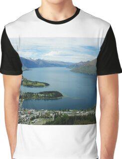 Overlooking Queenstown and Lake Wakatipu Graphic T-Shirt