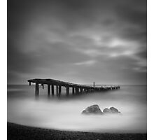 Destroyed pier Photographic Print