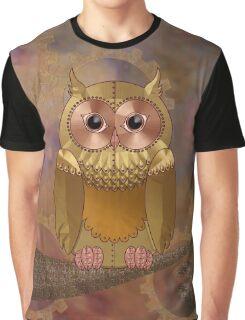 Steampunk Mechanical Owl Graphic T-Shirt