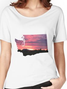 Washington Sunset Women's Relaxed Fit T-Shirt