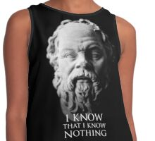 I know that I know nothing - Socrates Contrast Tank