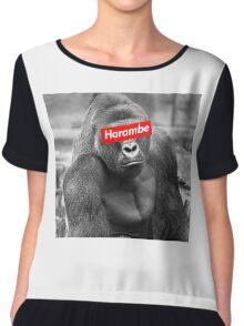 Harambe x Box Logo Chiffon Top