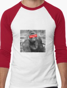 Harambe x Box Logo Men's Baseball ¾ T-Shirt