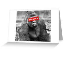 Harambe x Box Logo Greeting Card