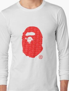 Bape x Japanese Box Logo Long Sleeve T-Shirt