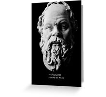 Socrates Greeting Card