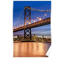 The Golden Gate At Night Poster
