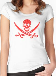 Pirate x Japanese Box Logo Women's Fitted Scoop T-Shirt