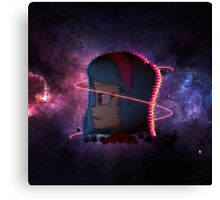 Allisa in space - Project EVO Canvas Print