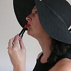 Orange Lady in a Black Hat by Sorcha Whitehorse ©